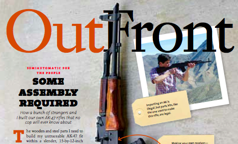 Mother Jones: Some Assembly Required - In which AK-47s are completely untraceable and legal